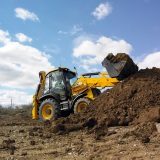 The iconic JCB 3CX backhoe loader